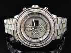 Custom Mens Breitling A13370 Super Avenger XL 53MM S.Steel with Diamonds 23 Ct