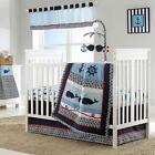 Nautical Sailing Whales Ocean Baby Boys Nursery 4 Piece Infant Crib Bedding Set
