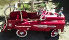 Ride On Vintage Fire Engine  Rescue Wagon Red Pedal Truck Car Kids Toddler Gift