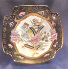 Large Chinese Square Centerpiece Bowl, Hand Painted  w/ Heavy Moriage Gilding.