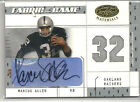 2003 LEAF CERTIFIED MARCUS ALLEN FABRIC OF THE GAME AUTO NUMBERS PATCH 28 32
