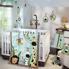 Safari Animals Monkeys and Zebras Unisex Baby Boys/Girls 5pc Nursery Bedding Set