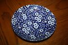 Staffordshire Queen's China Blue White Calico Chintz bowl dish saucer England