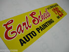 Vintage,50's 60's 70's Earl Scheib,Auto Painting,6x24,Yellow,Alum,Sig