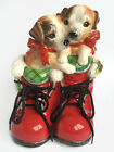 Fitz & Floyd Essentials Claus And Paws Ceramic Cookie Jar Dogs Puppies In Boots