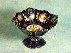 VINTAGE PORCELAIN FRUIT BOWL COBALT BLUE GOLD WHITE 24CT GOLD THUN 1794