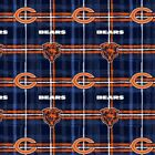 Chicago Bears NFL Football Sports Team Plaid Flannel Fabric Print D286.06