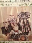 McCall's Crafts Family Cat Dolls w Clothes Sewing Pattern 1993 Uncut 27.5