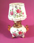 Pretty Little Vintage Oil Lamp, Hand Painted, Unused Condition, Japan