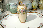 Antique Bavarian Vase-Floral Pattern-Miniature-Hand Signed and Dated 1910