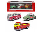 VOLKSWAGEN COCA COLA 3pc GIFT SET 1/72 DIECAST CAR MODELS BY MCC 458385