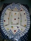 FITZ & FLOYD PETITS VEGS VEGETABLE 5 SECTION SERVING PLATTER