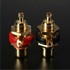 2pcs Gold Plated RCA Panel Mount Chassis Socket Phono Female Jack adapter