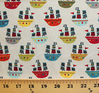 Riley Blake Treasure Map Pirate Ships Cotton Fabric Print by the Yard D766.34