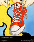24 canvas print shoe street art andy baker converse sneaker painting red