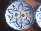 Hand Painted Italian Pottery Deruta Italy Blue/Green  Floral Soup/Saucer 18pc
