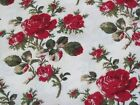 Red Roses Cotton Fabric by Robyn Pandolph