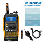 Baofeng GT-3TP Two-way Radio + Cable Mark III V/UHF 1/4/8W FM Walkie Talkie Ham