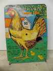 Vintage Mechanical Mother Hen Target Game Tin Game Piece Display