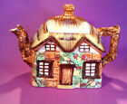 Occupied Japan (1946-52) Thatched Cottage Tea Pot, Hand Painted.