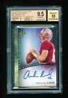 BGS 9.5 ANDREW LUCK 2012 UPPER DECK ULTIMATE COLLECTION AUTO RC SHORT PRINT *GEM