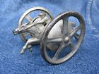 ANTIQUE CAST IRON SHORT TAILED RACING HORSE JOCKEY WHEEL TOY CHICAGO IL ORIGIN