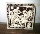 Antique Minton Hollins Brown White tile The Jolly Beggars Moyr Smith Bar Scene