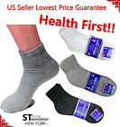 3,6,12 Pairs Diabetic ANKLE QUARTER Crew Circulatory Socks Health Cotton Mens