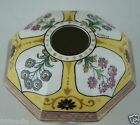 ANTIQUE LIMOGES HAND PAINTED YELLOW FLORAL HAIR RECEIVER ARTIST SIGNED