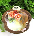 LOVELY NORITAKE GREEN MARK HAND PAINTED BOWL W/ PEONY FLOWERS