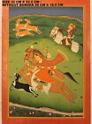 VINTAGE RARE INDIAN PAINTING OF MAHARANI & MAHARAJAH HUNTING PARTY INDIA