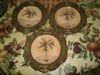 Sauvignon WEST INDIES Rimmed Dinner Plates Set of 3 with Palm Trees