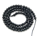 Natural Black Agate Gemstone Faceted Round Beads 15.5 4mm 6mm 8mm 10mm 12mm