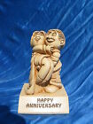 1970 Paula Figurine Happy Anniversary W169 Vintage Novelty Gift Couple Love Wife