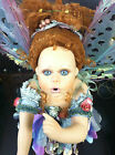 Rare Lovely Vintage Large Porcelain Fairy Faery Sprite Doll-Show Stoppers #1314