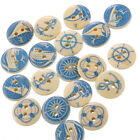 50PCs Mixed Wood Sewing Buttons Yachting Collections Scrapbooking 15mm