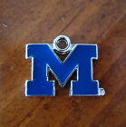 new University of Michigan Wolverines Go BLUE M CHARM bracelet bead jewelry
