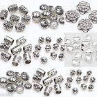 Lots Tibet Silver Plated Loose Spacer Beads Caps Jewelry Findings Craft DIY Gift