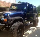 Jeep : Wrangler Unlimited LWB 2006 jeep wrangler 4 x 4 unlimited blue pearl only 72000 miles crown jewel
