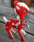 Dakin Dream Pet - Christmas Fawn Vintage 60's - Sawdust Stuffed - Made in Japan