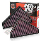 K&N 33-3021 & 33-3022 Air Intake Filter For 2014-2015 Jaguar F-Type V6 V8