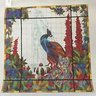 NEEDLEPOINT CANVAS   PETER ASHE     THE PEACOCK IN STAINED GLASS