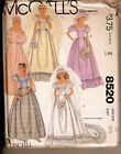 1980's McCall's 8520 - Priscilla Wedding Gown and Bridesmaids' Dress Pattern