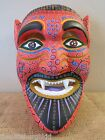 FANTASTIC Large Alebrije Folk Art Hand Carved Devil Diablo Mask ~ Oaxaca Mexico