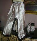 VTG SILVER EXTREMELY SILKY SATIN LACY HALF SLIP WAIST SIZE M WAIST 22
