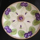 Antique Hand Painted ROYAL RUDOLSTADT PRUSSIA PLATE  Signed Stein Violets