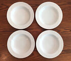 (4)Mikasa Classic Flair White Calla Lily Rimmed Soup Bowls~MORE PIECES AVAILABLE