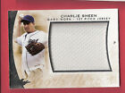 CHARLIE SHEEN 2014 LEAF 1st PITCH JERSEY CARD MAJOR LEAGUE WILD THING 2 1 2 MEN