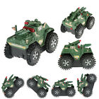 Army Tank Tanks Diecast Model Military Vehicles Lights Plastic Toy Kids