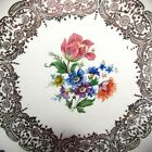Square Plate Queen Anne Warranted 22K Gold China Union Made White 6 3/4 Vintage